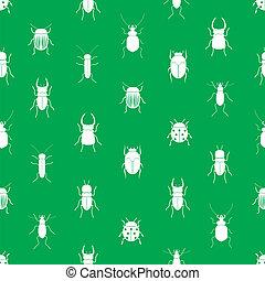 eps10, Převislý, jednoduchý, model, hmyz,  seamless, nezkušený