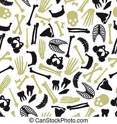 eps10, patrón, seamless, símbolos, humano, huesos