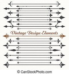 .eps10, projeto fixo, elementos, calligraphic