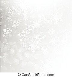 eps10, résumé, automne, neige, illustration, gris, bokeh, vecteur, fond, 004