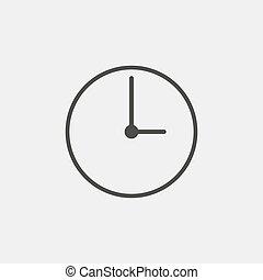eps10, relógio, ilustração, color., vetorial, pretas, ícone