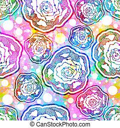 eps10, resumen, pattern., seamless, vector, flores
