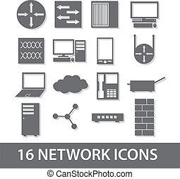 eps10, rete, collezione, icona