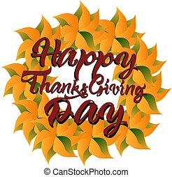 eps10, ringraziamento, autunno, vettore, fondo, giorno