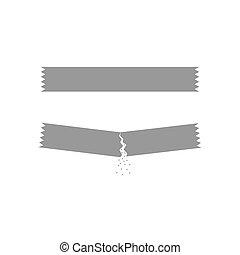 eps10, sachet, set., açúcar, vetorial, ícone