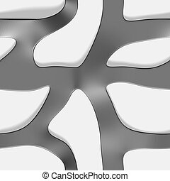 eps10. Seamless pattern of curves interconnected on a white background with shadows. Vector illustration