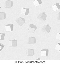 eps10. Seamless pattern with three-dimensional cubes. Abstract mosaic of white colors squares
