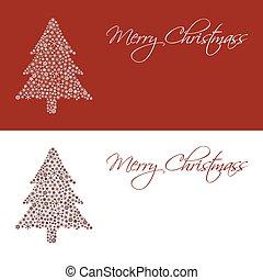 eps10, sněhové vločky, strom, Blahopřání, Karta, Neposkvrněný, vánoce, červeň