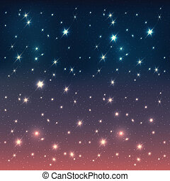 eps10, stelle, cielo, notte