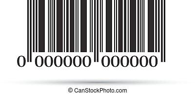 eps10, streepjescode, illustratie, achtergrond., vector, witte , pictogram