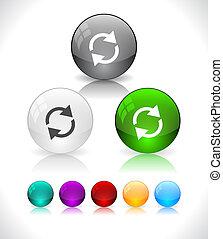 eps10, színes, elvont, pohár, sima, balls., file.