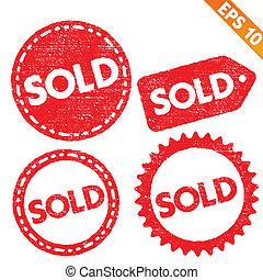 eps10, timbre, autocollant, -, collection, vecteur, illustration, étiquette, vendu