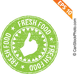 eps10, timbre, -, illustration, caoutchouc, nourriture, vecteur