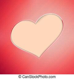 eps10, valentine, +, tło., dzień, czerwony