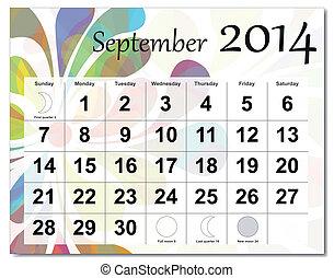 September 2014 calendar.