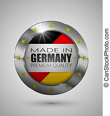 EPS10 Vector illustration. Realistic button. Made in Germany, Premium Quality. Perfect for any use.