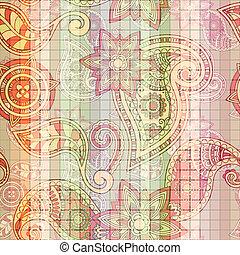 vector seamless tile paisley pattern