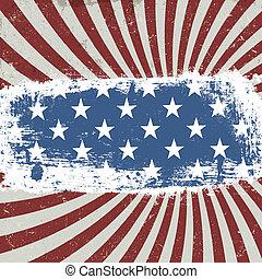 eps10, vendange, arrière-plan., américain, vecteur, patriotique, style.