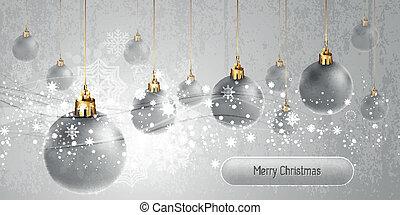 eps10,  , vetorial, fundo, globos, bandeira, natal, prata