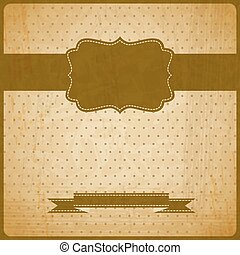 EPS10 vintage grunge old card.  Background with place for text