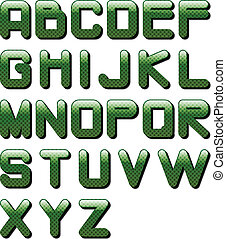 eps10_glossy_alphabet_green