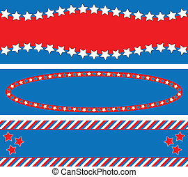 EPS8 Vector 3 Red White Blue Star S