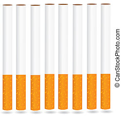 eps8 vector isolated cigarette - detailed realistic illustration