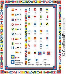 EPS8 Vector Nautical Flags and Bord
