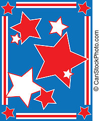 EPS8 Vector Patriotic Star Backgrou