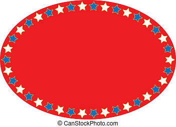 EPS8 Vector Red White Blue Oval Sta