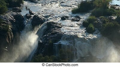 Epupa Falls on River Kunene in Northern Namibia. Africa wilderness. Beautiful landscape.