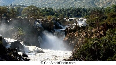 Epupa Falls on the Kunene River in Northern Namibia and Southern Angola