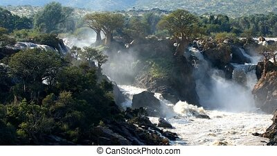 Epupa Falls on the Kunene River in Namibia - famous Epupa...