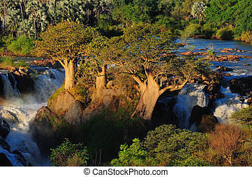 Epupa waterfall, Namibia - A small portion of the Epupa...