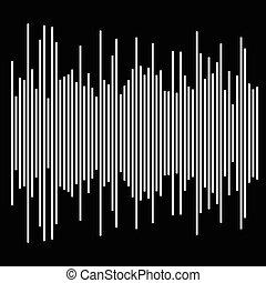 eq, equalizer element. bar chart, bar graph with irregular dynamic lines