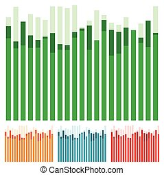 Eq, equalizer with overlapping bars - Bar chart, bar graph w...