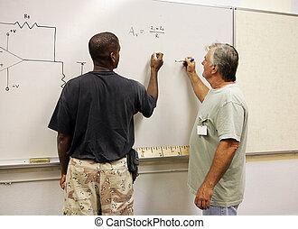 equações, trabalhando