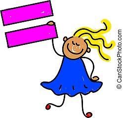 equal kid - learning mathematical symbols - toddler art...