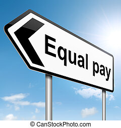 Equal pay concept.