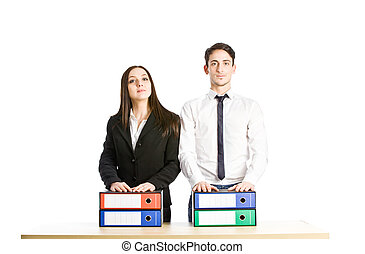 Equal - photo of business people as conceptual equal ...