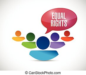 equal rights diversity people illustration design over a ...