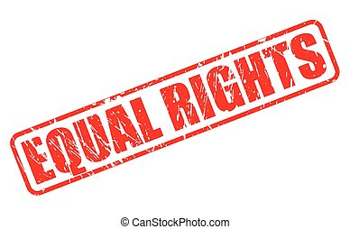 EQUAL RIGHTS red stamp text on white