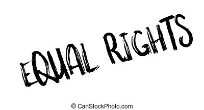 Equal Rights rubber stamp. Grunge design with dust...
