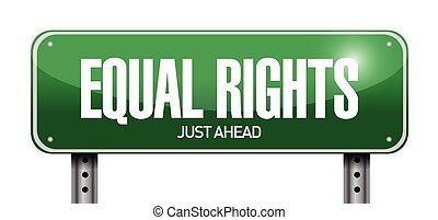 equal rights sign illustration design over a white...
