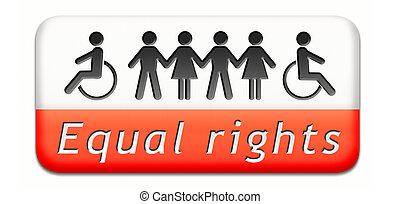 equal rigts button - equality and solidarity equal rights...