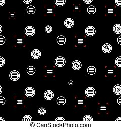 Equal sign seamless pattern, isolated on white background. Vector illustration, easy to edit. eps10