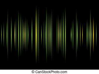 equaliser green background