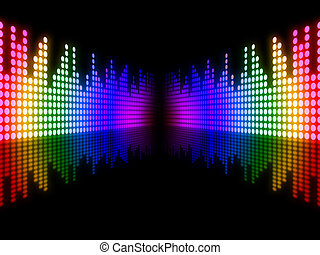 Equaliser Music Indicating Sound Track And Musical