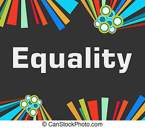 Equality Dark Colorful Elements