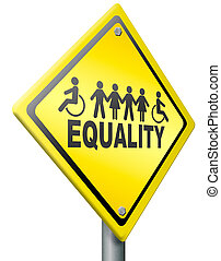 equality, equal rights for everybody solidarity and human right